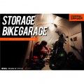 ストレージ バイクガレージ Lサイズ   バイク 大型 ガレージ 車庫 整備 メンテ メンテナンス ベンチレーション 工具不要 ペグ付き 写真2
