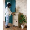 【ネビル】宅配ボックス 付き ポスト アイボリー|完成品 簡単設置 スタンドポスト 投函口 写真2