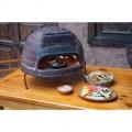 【ピザ・窯・オーブン・暖炉・バーベキュー】 メキシコ製 ピザ窯 チムニー 写真3