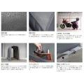 ストレージ バイクガレージ Lサイズ   バイク 大型 ガレージ 車庫 整備 メンテ メンテナンス ベンチレーション 工具不要 ペグ付き 写真3