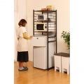 冷蔵庫 ラック 微妙な高さ 調節 ができる アジャスター付き ブラウン RZR-HR3(BR)    新生活 一人暮らし レンジ トースター 幅60 2ドア 写真3