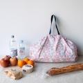 マーナ コンパクトバッグ L トライアングル | エコバッグ 買い物 レジかご お出かけ サイドバッグ スーパー コンパクト 写真3