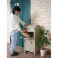 【ネビル】宅配ボックス 付き ポスト アイボリー|完成品 簡単設置 スタンドポスト 投函口 写真3