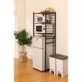 冷蔵庫 ラック 微妙な高さ 調節 ができる アジャスター付き ブラウン RZR-HR3(BR)    新生活 一人暮らし レンジ トースター 幅60 2ドア 写真4
