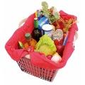 コンパクトバッグ L レッド | エコバッグ 買い物 レジかご お出かけ サイドバッグ スーパー コンパクト 写真4