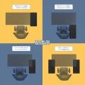 昇降式L字デスク ( ブラック ) 【夜間指定は18-21時になります。】 | サイドラック 昇降機能 パソコンカート サイドテーブル キャスター 写真5