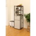 冷蔵庫 ラック 微妙な高さ 調節 ができる アジャスター付き ブラウン RZR-HR3(BR)  写真5