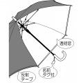 学童ジャンプ傘 55cm イエロー 写真5