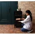 ラージスタンドポスト Oraina ブラック   スタンド おしゃれ 宅配ボックス 郵便受け スチール 置き型 アンティーク 写真5