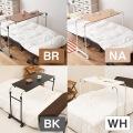 伸縮式ベッドテーブル ブラウン 写真6