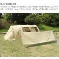 風よけテントとしても使用できる カマボコシールドミニ タン 写真6