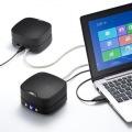 2台まで連結可能 WEB会議小型スピーカーフォン(連結可能) 写真6