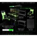 昇降式L字デスク ( ブラック ) 【夜間指定は18-21時になります。】 | サイドラック 昇降機能 パソコンカート サイドテーブル キャスター 写真8